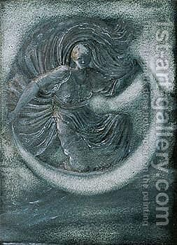Luna by Sir Edward Coley Burne-Jones - Reproduction Oil Painting