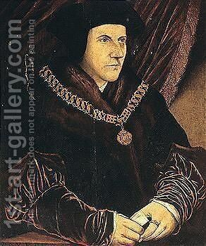 Portrait Of Sir Thomas More by (after) Holbein the Younger, Hans - Reproduction Oil Painting