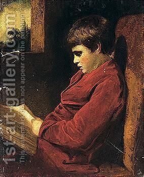 The Studious Boy by Sir Joshua Reynolds - Reproduction Oil Painting