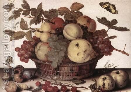 Basket Of Fruits  1632 by Balthasar Van Der Ast - Reproduction Oil Painting