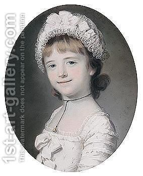 Portrait Of Lady Georgiana West by Catherine Read - Reproduction Oil Painting