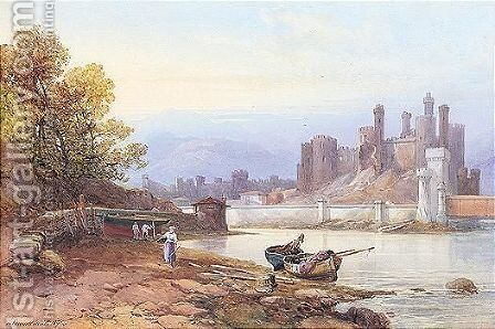 Conway Castle by James Burrell Smith - Reproduction Oil Painting