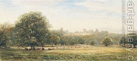 Warwick Castle by James Orrock - Reproduction Oil Painting
