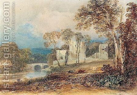 Brougham Castle, Westmoreland by Anthony Vandyke Copley Fielding - Reproduction Oil Painting