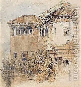 The Alhambra, Granada by David Roberts - Reproduction Oil Painting