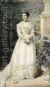 Amy, Marchioness Of Huntly by Sir John Everett Millais - Reproduction Oil Painting