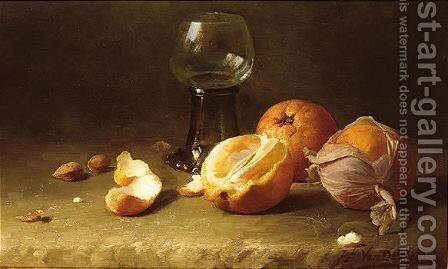Still life with oranges by Jef Van De Roye - Reproduction Oil Painting