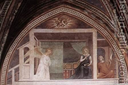 The Annunciation by Barna Da Siena - Reproduction Oil Painting