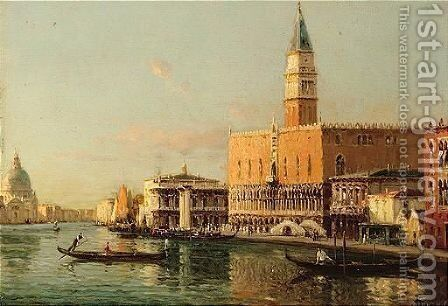 The Doges Palace, Venice by Antione Bouvard - Reproduction Oil Painting