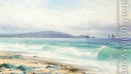 In Mounts Bay Cornwall by David James - Reproduction Oil Painting