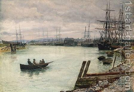 The Gloaming, Tynemouth by Charles Napier Hemy - Reproduction Oil Painting