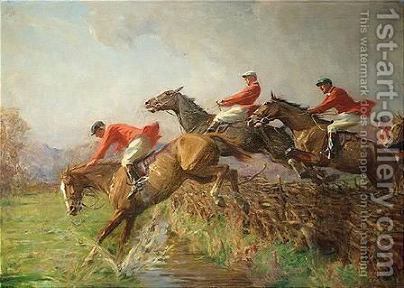 Steeplechase by Charles Stewart - Reproduction Oil Painting
