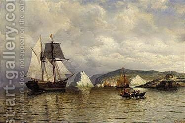 Entering harbor, coast of labrador by William Bradford - Reproduction Oil Painting