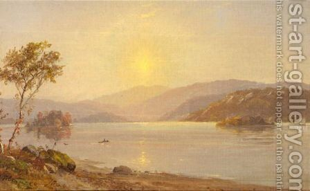 Autumn by the lake 2 by Jasper Francis Cropsey - Reproduction Oil Painting