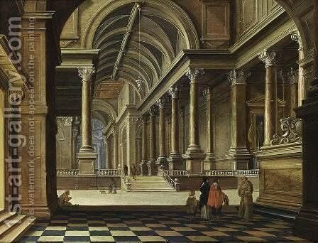 Interior Of An Imaginary Church 1639 by Bartholomeus Van Bassen - Reproduction Oil Painting