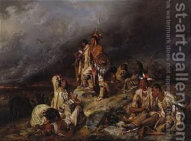 The prairie fire by Henry Ritter - Reproduction Oil Painting