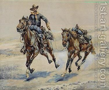 The Empty Saddle by Frederic Remington - Reproduction Oil Painting
