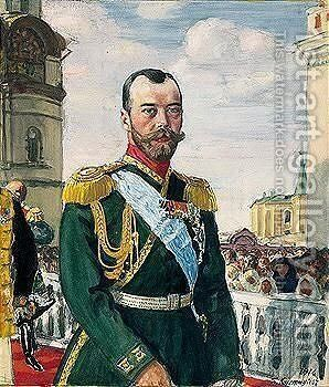 Portrait of emperor Nicholas II Alexandrovich by Boris Kustodiev - Reproduction Oil Painting