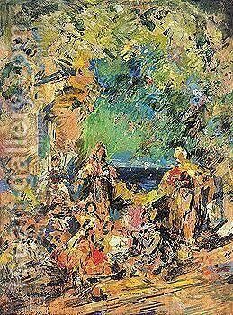 Stage design for le Corsair by Konstantin Alexeievitch Korovin - Reproduction Oil Painting