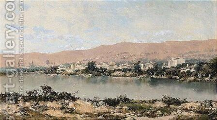 Paisaje Con Rio (A River Landscape) by Martin Rico y Ortega - Reproduction Oil Painting