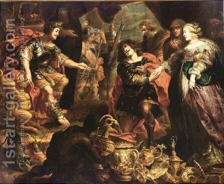 The Continence Of Scipio by (after) Cornelis De Vos - Reproduction Oil Painting