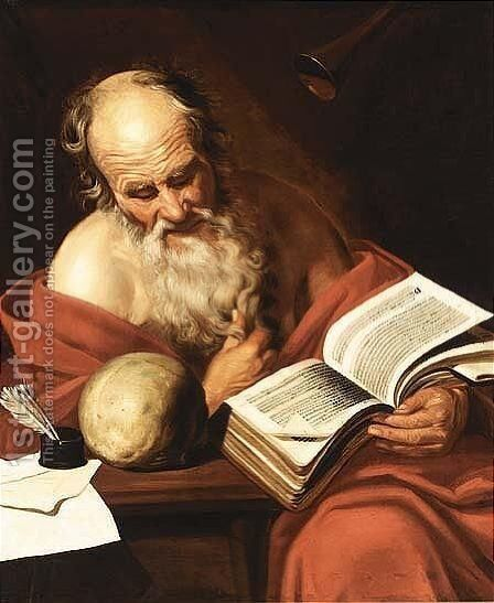 St. Hieronymus by (after) Hendrick Bloemaert - Reproduction Oil Painting