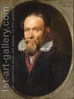 A portrait of a bearded man by Anglo-Dutch School - Reproduction Oil Painting