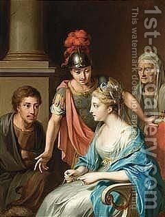 A mythological scene by (after) Louis Fabritius Dubourg - Reproduction Oil Painting