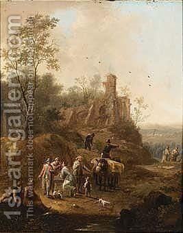 A Path Near A Ruin by (after) Frans De Paula Ferg - Reproduction Oil Painting