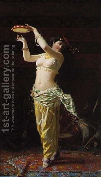 Tambourine dance by A. Fontegazza - Reproduction Oil Painting