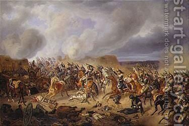 Napoleonic Battle Scene by Adam Albrecht - Reproduction Oil Painting