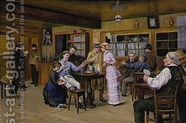 The Consultation by Auguste Constantin Viollier - Reproduction Oil Painting