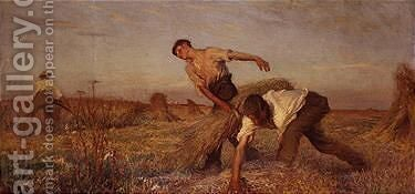 The Harvest by Sir George Clausen - Reproduction Oil Painting