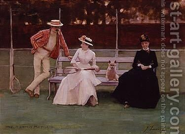 The Tennis Match by Sir John Lavery - Reproduction Oil Painting