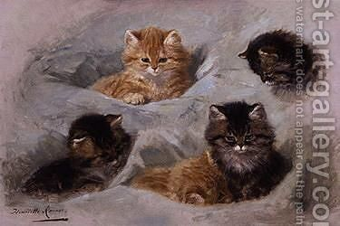 Five Kittens by Henriette Ronner-Knip - Reproduction Oil Painting