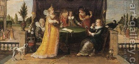 An allegory of the five senses by (after) Louis De Caullery - Reproduction Oil Painting