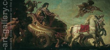 King Louis XIII Of France In A Triumphal Chariot by (after) Justus Van Egmont - Reproduction Oil Painting