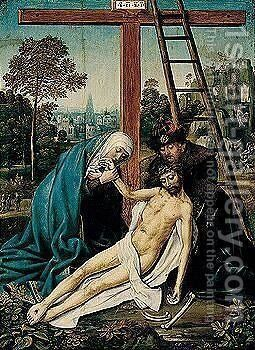 The lamentation by Antwerp School - Reproduction Oil Painting