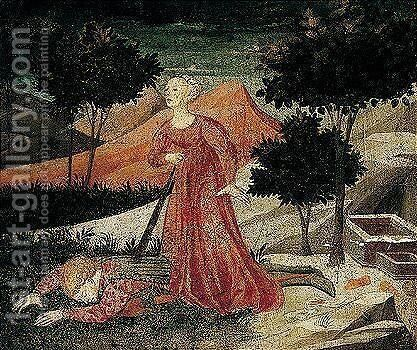 Pyramus And Thisbe by Apollonio di Giovanni - Reproduction Oil Painting