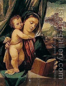 The Madonna And Child by Bonifacio Veronese (Pitati) - Reproduction Oil Painting