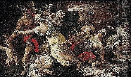 The Massacre Of The Innocents by Giuseppe Simonelli - Reproduction Oil Painting