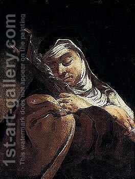 Saint Teresa Of Avila by (after) Giulia Lama - Reproduction Oil Painting