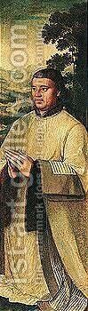 Portrait of a male donor in a landscape by (after) Ambrosius Benson - Reproduction Oil Painting