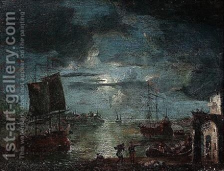 A 19th Century Copy, With Some Differences, After The Original Formerly With Ver Meer Gallery, London by (after) Aert Van Der Neer - Reproduction Oil Painting