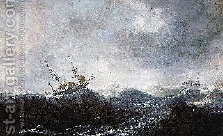Ocean scene by (after) Pieter The Elder Mulier - Reproduction Oil Painting
