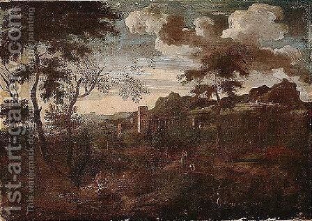 Landscape by (after) Gaspard Dughet - Reproduction Oil Painting