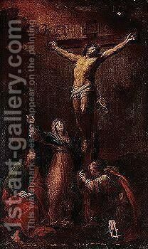 Chris on the cross by (after) Francesco Mancini - Reproduction Oil Painting