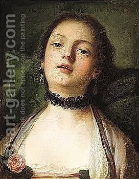 A Variant Of A Painting By Rotari by (after) Pietro Antonio Rotari - Reproduction Oil Painting