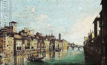 A Venetian capriccio 2 by (after) Francesco Guardi - Reproduction Oil Painting