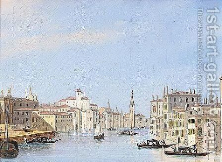 Venice, a View of the Grand Canal by (after) Carlo Grubacs - Reproduction Oil Painting